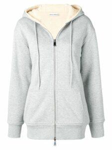 Paco Rabanne zipped logo hoodie - Grey
