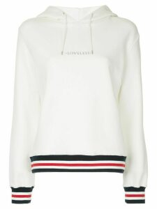 Loveless logo print hoodie - White