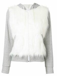 Comme Des Garçons Girl faux fur hoodie - Grey