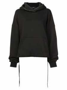 Amiri oversized lace-up side hoodie - Black