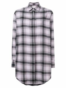 Each X Other oversized soft washed flannel shirt - PINK