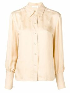 Chloé embroidered shirt - NEUTRALS