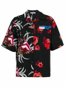 Prada floral short-sleeve shirt - Black