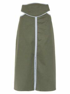 Framed Double Layer midi skirt - Green