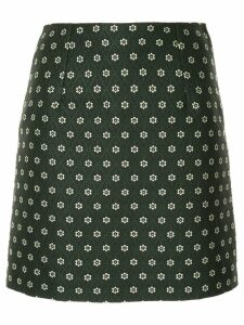Alexa Chung floral embroidery mini skirt - Green
