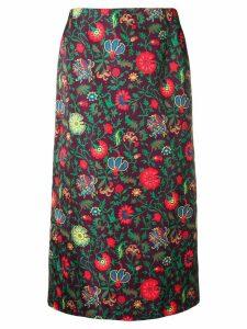 La Doublej jacquard pencil skirt - PINK