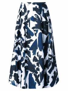 Jil Sander brushes printed skirt - White