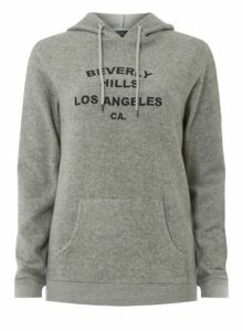 Womens **Tall 'Beverly Hills' Burshed Hoodie- Grey, Grey