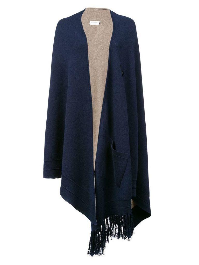 Yigal Azrouel knitted asymmetric cape jacket - Black