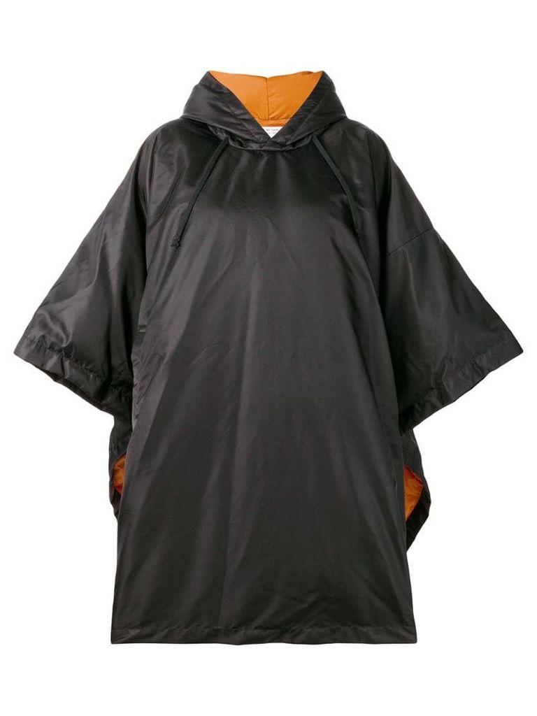 Comme Des Garçons Comme Des Garçons oversized padded poncho - Black
