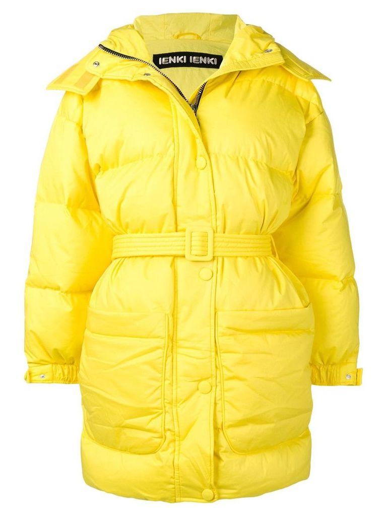 Ienki Ienki belted puffer jacket - Yellow & Orange