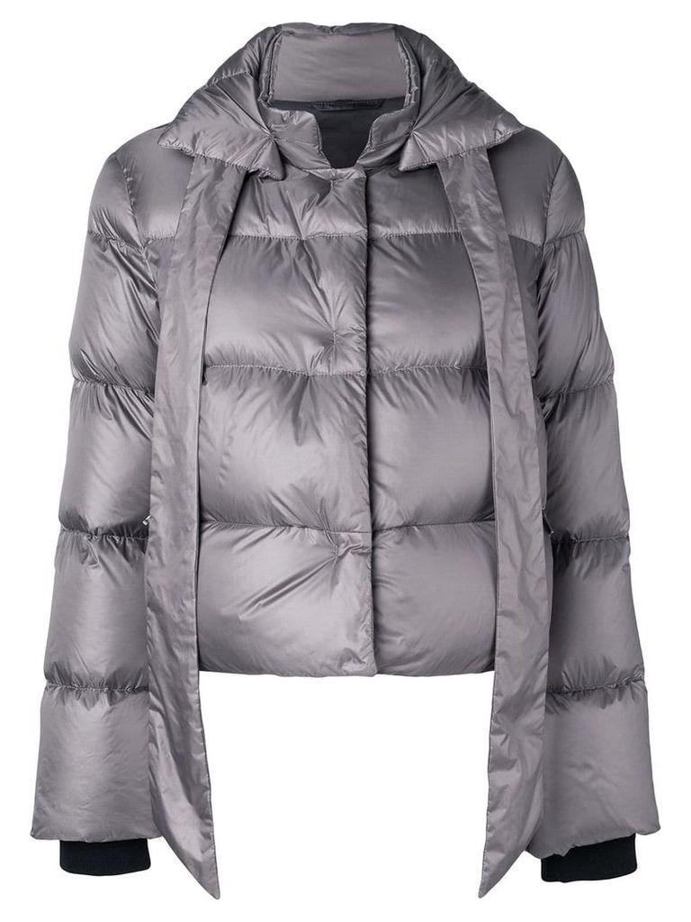 Fay bow tie puffer jacket - Grey