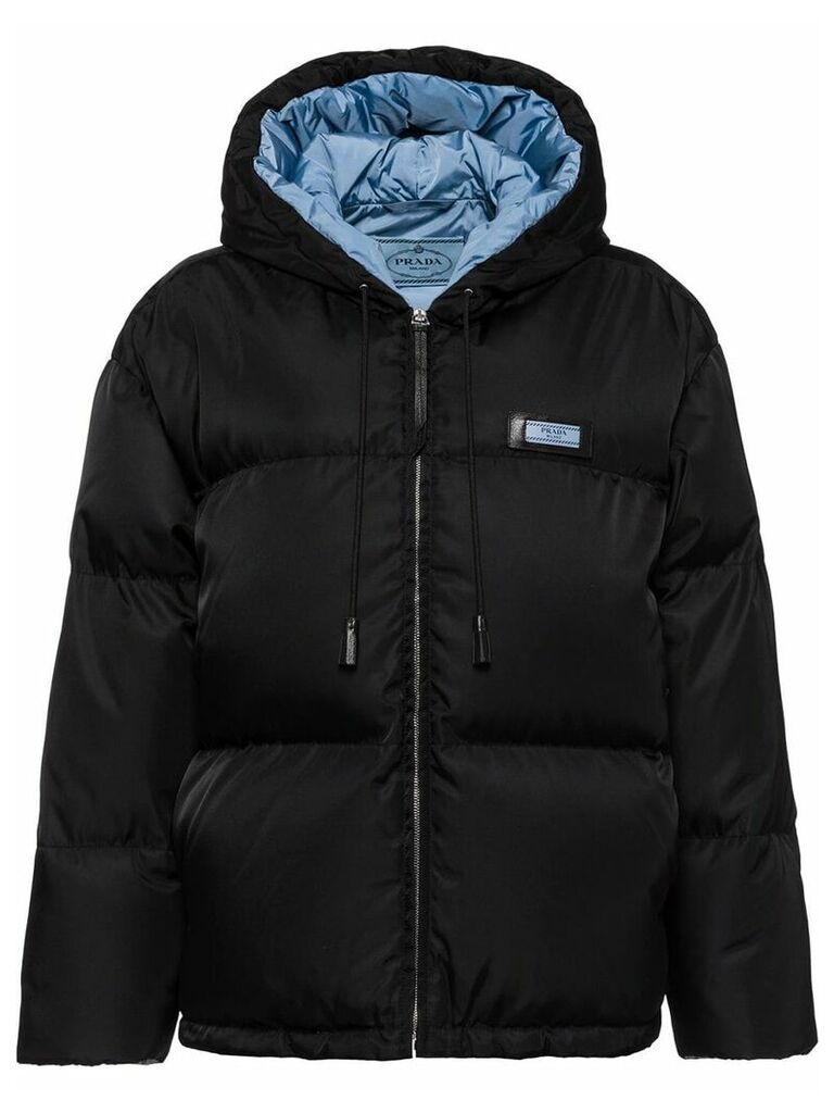 Prada nylon gabardine puffer jacket - Black