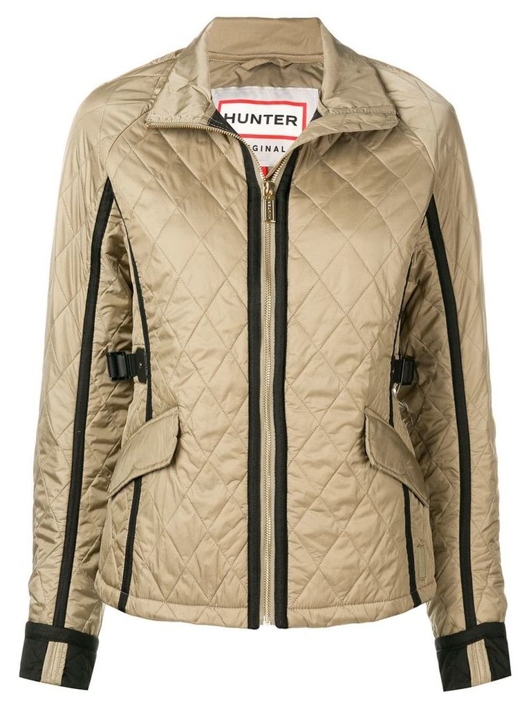 Hunter quilted zipped jacket - Nude & Neutrals