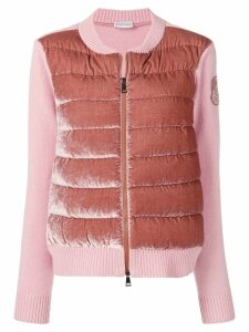 Moncler zipped padded cardigan - PINK