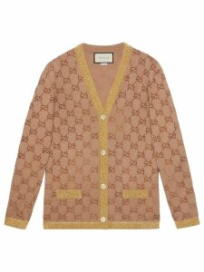 Gucci Cardigan with crystal GG motif - Neutrals