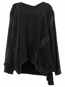 Koché cable knit detail sweatshirt - Black