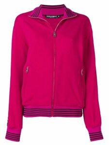 Dolce & Gabbana logo stripe track jacket - PINK