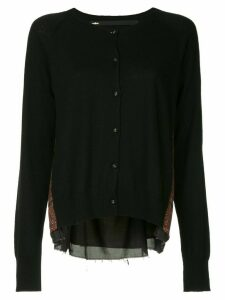 Muller Of Yoshiokubo rear-contrast cardigan - Black