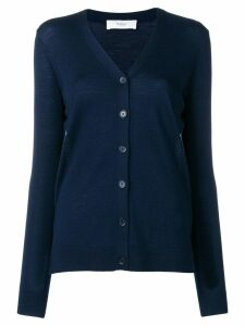 Pringle of Scotland fine knit buttoned cardigan - Blue