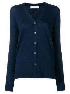 Pringle Of Scotland fine knit buttoned cardigan - Blue