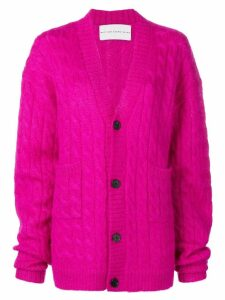 Matthew Adams Dolan loose fit knitted cardigan - PINK