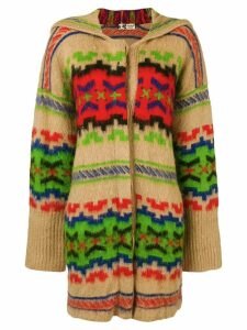 Kansai Yamamoto Pre-Owned pattern hooded cardigan - NEUTRALS
