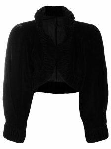 A.N.G.E.L.O. Vintage Cult 1950's velvety cropped bolero - Black