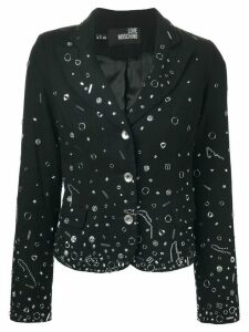 Moschino Pre-Owned embellished blazer - Black