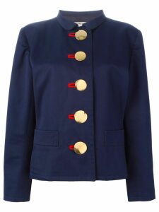 Yves Saint Laurent Pre-Owned oversized button fastening jacket - Blue