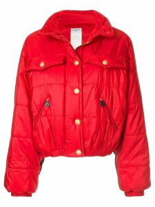 Chanel Pre-Owned quilted bomber jacket - Red