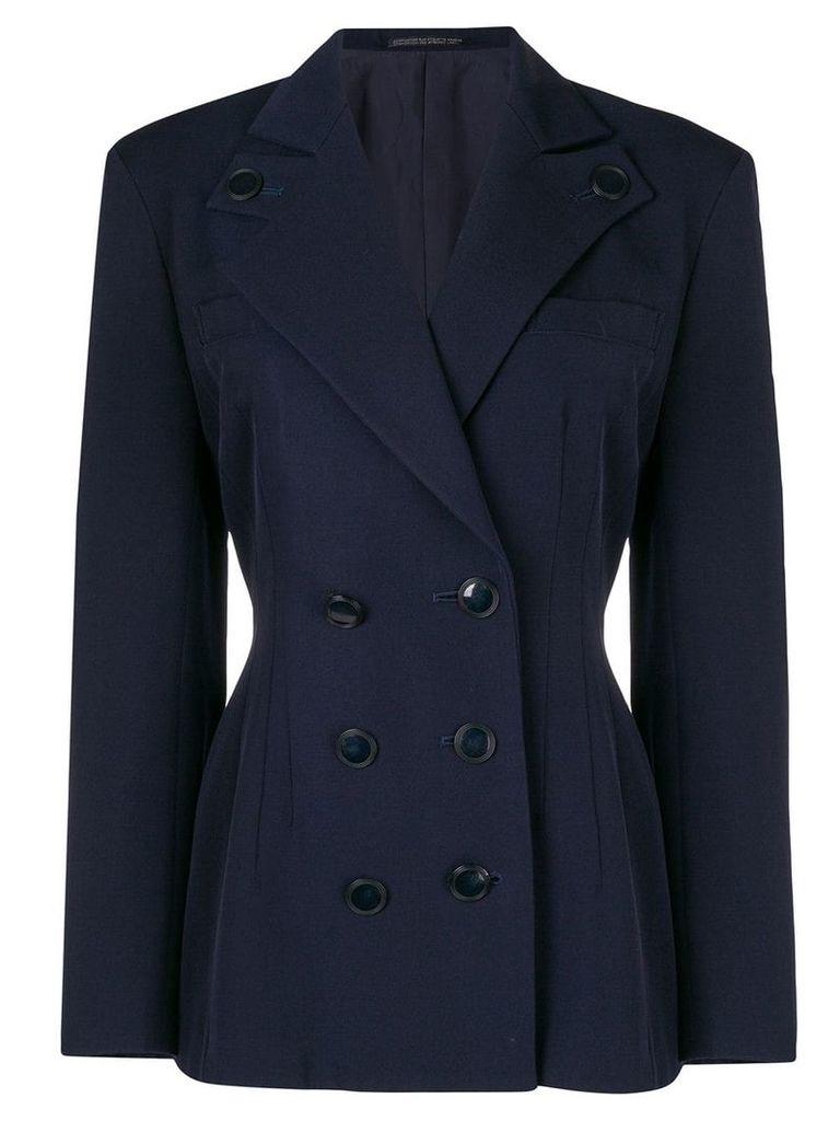 Yohji Yamamoto Vintage fitted double breasted jacket - Blue