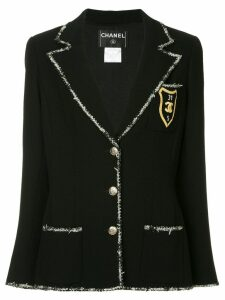 Chanel Pre-Owned jacket with patch - Black