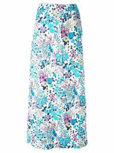 Céline Pre-Owned floral print skirt - Blue