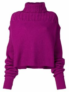 Unravel Project turtle neck jumper - Pink