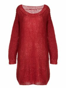 Uma Wang round neck long jumper - Red