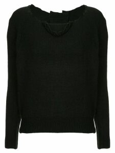 Uma Wang distressed neck jumper - Black