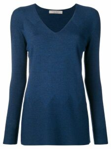 D.Exterior V-neck sweater - Blue