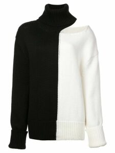 Monse bicolour cold shoulder jumper - Black