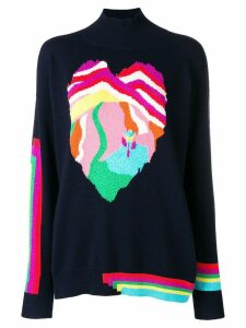 Barrie Heart cashmere sweater - Blue