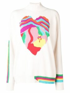 Barrie Heart cashmere sweater - White