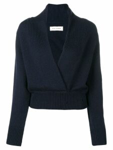 A Plan Application cropped v-neck sweater - Blue