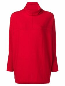 Philo-Sofie cropped sleeve turtleneck sweater - Red