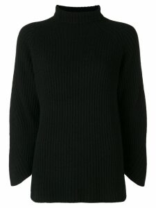 Philo-Sofie cropped sleeve turtleneck sweater - Black