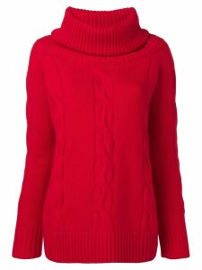 Philo-Sofie embossed turtleneck sweater - Red