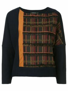 Loveless tweed panel jumper - Blue