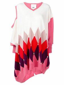 Ballantyne argyle asymmetric jumper - Pink