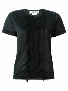 Comme Des Garçons Pre-Owned lace detail T-shirt - Black