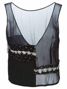Comme Des Garçons Pre-Owned paneled top - Black