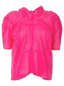 Comme Des Garçons Pre-Owned raw edge gathered top - PINK